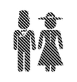 Male and female restroom symbol sign vector image