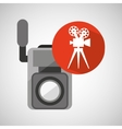movie video camera film retro vector image vector image