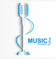 musical design concept vector image