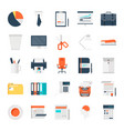 office work icons vector image