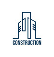 outline construction real estate logo vector image vector image