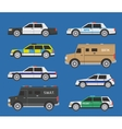 Police cars vector image vector image
