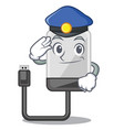 police hard drive in shape of mascot vector image vector image