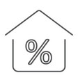 real estate business thin line icon real estate vector image vector image