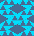 Retro 3D blue stripes with triangles crossed vector image vector image