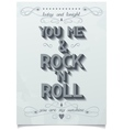 Rock love poster design vector image vector image