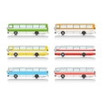 Set bus on a white background vector image vector image