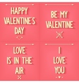 Set inscriptions for Valentines Day vector image vector image