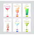 Set of cocktail banners vector image