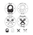 Set of music and karaoke logos labels badges vector image vector image