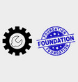 setup tools icon and scratched foundation vector image vector image