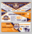 soccer game football championship banners vector image vector image