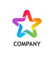 star logo colorful on white vector image