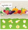 stylized vegetables icons vector image vector image