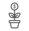 successful investment line icon development vector image vector image