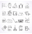 Switzerland industry and culture icons vector image vector image