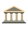 Temple of Concordia at Agrigento Italy icon vector image