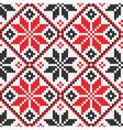 Ukrainian ornament knitting seamless texture vector image