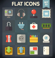 Universal Flat Icons Set for applications 23 vector image