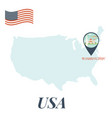 usa map with washington pin travel concept vector image