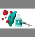 vaccination against coronavirus time to vaccinate vector image vector image