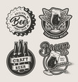 Vintage brewing logos set