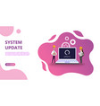 webmaintenance update system upgrate concept vector image vector image