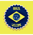 Welcome to Brazil sign vector image vector image