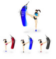 woman boxing pack vector image vector image