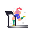 woman jogging on treadmill hand drawn vector image vector image