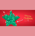 year papercut star winter city house vector image vector image