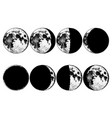 moon phases planets in solar system astrology or vector image