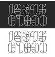a set hipster numbers monogram linear geometric vector image vector image