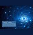 abstract colorful background with blue spiral vector image vector image