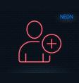 add user line icon profile avatar sign vector image vector image