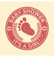 Baby Shower Feet Rubber Stamp vector image