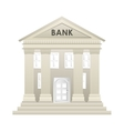 bank building construction silhouette icon vector image vector image