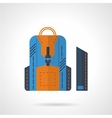 Blue knapsack flat icon vector image vector image