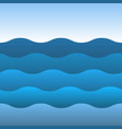 blue sea wave ocean and sky vector image vector image