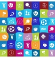 bright sports icons set vector image