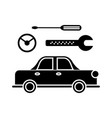 car service icon sign o vector image vector image