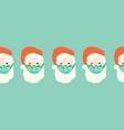 christmas coronavirus border seamless vector image