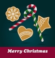 Christmas Ginger and Honey cookies vector image