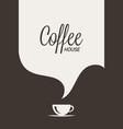 coffee cup logo coffee banner concept vector image vector image