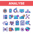 color analyse element sign icons set