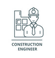 construction engineer line icon vector image vector image