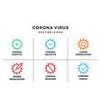corona virus icon bundle pack essential vector image