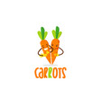 couple carrots logo design symbol icon vector image