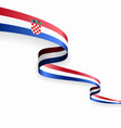 croatian flag wavy abstract background vector image vector image