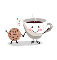 cute cartoon cup coffee3 vector image